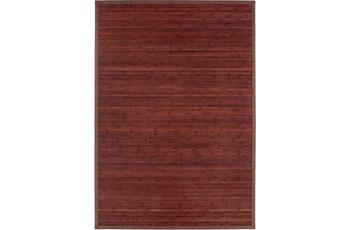 Andiamo In- und Outdoorteppich Bambus rot uni