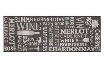 Andiamo Läufer Arizona Wein Anthrazit gemustert 67 x 180 cm
