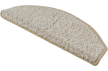 Andiamo Stufenmatten Shaggy creme-weiß einfarbig 28 x 65 cm