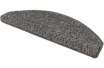 Andiamo Stufenmatten Shaggy grau-braun einfarbig 28 x 65 cm