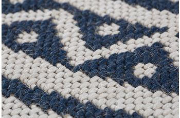 Andiamo Teppich Ios natur-blau Ø 135 cm