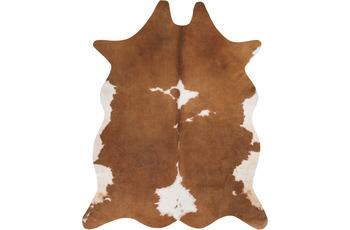 Andiamo Teppich Kuhfell Amarillo creme-braun 122cm  x 155cm