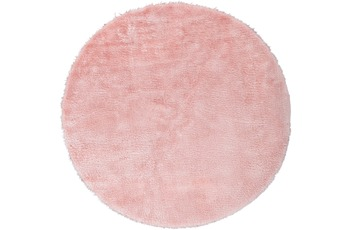 Andiamo Teppich Lambskin, rosa, rund, 120 cm