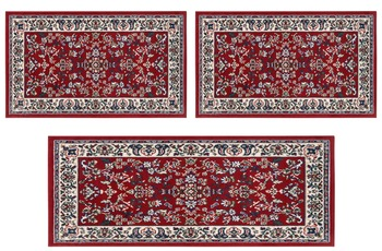 Andiamo Teppich Orient, rot 2x 60x110 + 1x 60x180 cm