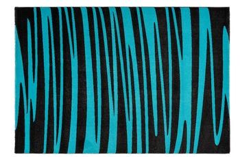 Arte Espina Teppich Broadway 200 Anthrazit /  Türkis 120 x 170 cm