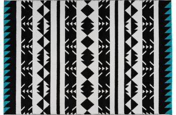 Arte Espina Teppich Broadway 400 Schwarz /  Weiß /  Türkis 120 x 170 cm