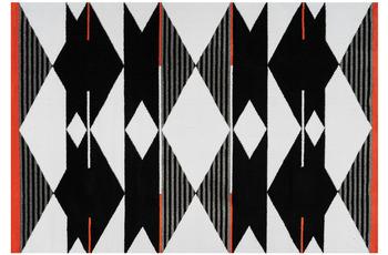 Arte Espina Teppich Broadway 500 Schwarz /  Weiß /  Rot