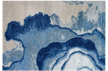 Arte Espina Teppich Damast 100 Blau 200 x 300 cm