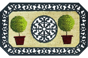 Astra Coco Twin Des. 03 Bäume rund natur /  schwarz