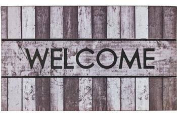 Astra Fussmatte Eco Fashion Holz Welcome grau 45x75