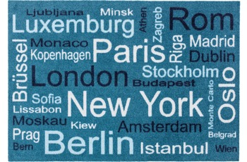 Astra Fussmatte Homelike Städte int. blau oR 50x70