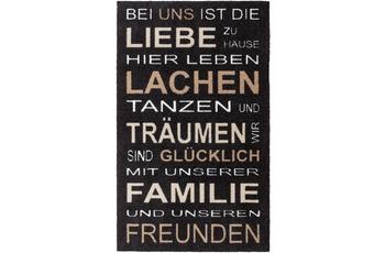 Astra Türmatte Felicido D. 801 C. 046 Spruch schwarz-br 67x110 cm