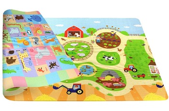 BABY CARE Spielmatte Busy Farm 13mm 140x210