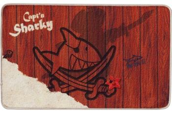Capt'n Sharky , Teppich, SH-304, 50 x 80 cm, rutschhemmender Rücken, 7 mm Florhöhe