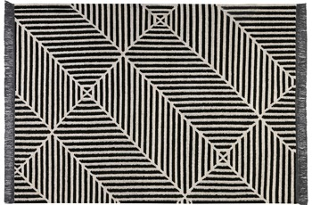 carpets&co. Teppich Irregular Fields GO-0008-01 schwarz-weiss