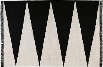 carpets&co. Teppich Smart Triangle GO-0002-01 schwarz-weiss 80x150