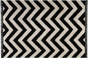 carpets&co. Teppich Zig-Zag GO-0003-01 schwarz-weiss