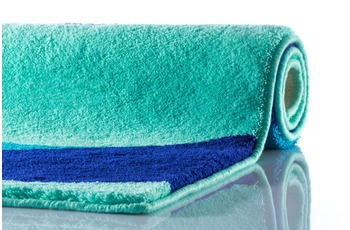 clarissa Badteppich Aurelia mint/ mediterran-blau/ royalblau 60 cm x 100 cm