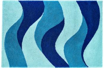 clarissa Badteppich Aurelia mint/ mediterran-blau/ royalblau
