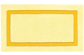 clarissa , Badteppich, Linea, 2 gelb-hell/ maisgelb, mit Schlingenmuster, 18 mm Florhöhe