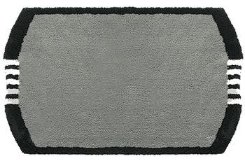 clarissa , Badematte, Monza, grau-dunkel/ schwarz/ weiß, 25 mm Florhöhe, Öko-Tex zertifiziert