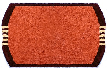clarissa , Badematte, Monza, terracotta/ bordeaux-dunkel, 25 mm Florhöhe, Öko-Tex zertifiziert
