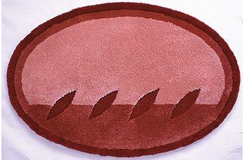 clarissa , Badematte, Siena, azalee-hell/ azalee-dunkel, oval, 25 mm Florhöhe