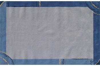 Dino Basic 306 blau 120 x 180 cm
