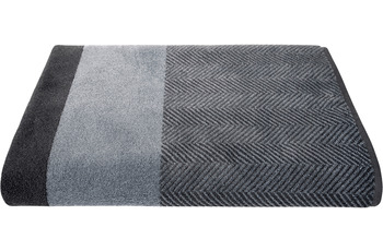 Dyckhoff Saunatuch Two-Tone Stripe silber Saunatuch 100 x 200 cm