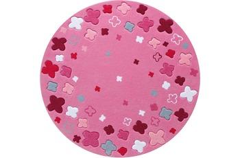 ESPRIT Kinder-Teppich Loom Field ESP-2980-03 rosa/ pink 100 x 100 cm rund