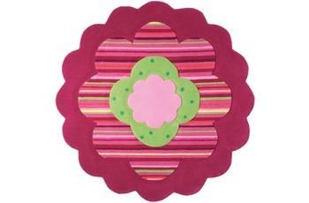 ESPRIT Kinder-Teppich Flower Shape ESP-2840-06 rosa/ pink 100 x 100 cm rund