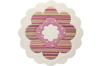 ESPRIT Kinder-Teppich Flower Shape ESP-2840-09 beige 100 x 100 cm rund
