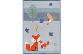 ESPRIT Kinderteppich E-FOX IN THE WOOD ESP-4371-03 blau
