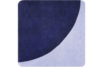 ESPRIT Kurzflor-Teppich Corro ESP-4307-02 blau 100x100 cm