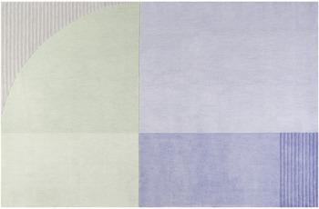 ESPRIT Kurzflor-Teppich Runway ESP-4304-01 blau 70x140 cm
