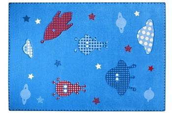 ESPRIT Kinder Teppich, Little Astronauts ESP-8021-03 blau, Öko-Tex 100 zertifiziert