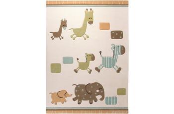 ESPRIT Kinder-Teppich Lucky Kinder-Teppich Zoo ESP-2842-03 beige 70 x 140 cm