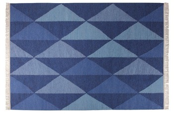 ESPRIT Teppich, Natural Triangular ESP-7016-01 blau