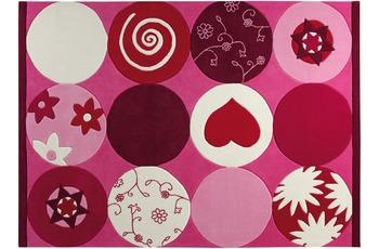 ESPRIT Kinder-Teppich, Pink Heart ESP-2975-01 rosa/ pink, Öko-Tex 100 zertifiziert