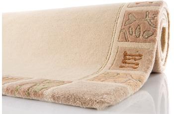 Nepal Teppich, Ghorka exclusive, beige, 801, reine Schurwolle, handgeknüpft