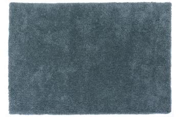 Gino Falcone Teppich Giulia UNI 700 blau