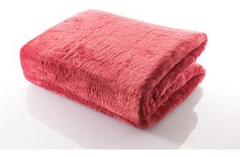 Gözze Mikrofaserdecke in Cashmere-Qualität, rot, 500 g/ m²