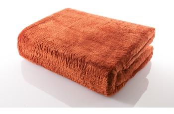 Gözze Mikrofaserdecke in Cashmere-Qualität, terra/ orange