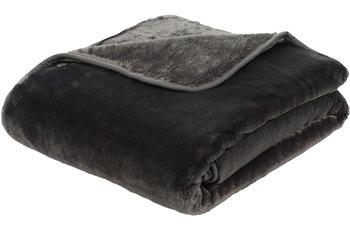 Gözze Premium Cashmere-Feeling Decke, anthrazit