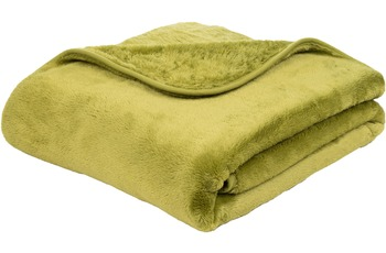 Gözze Premium Cashmere-Feeling Decke, limonegrün