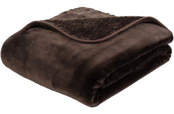Gözze Premium Cashmere-Feeling Decke, schoko-braun