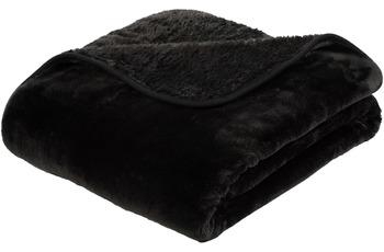 Gözze Premium Cashmere-Feeling Decke, schwarz