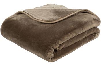 Gözze Premium Cashmere-Feeling Decke, taupe