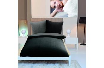 Gözze Wendebettwäsche in Cashmere-Qualität, schwarz/ anthrazit Wendebettwäsche in Cashmere-Qualität, 300 g/ m² 135x200 + 80x80 c