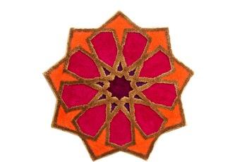 GRUND Badteppich SHEREZAD 4144 orange-rot 140 cm rund